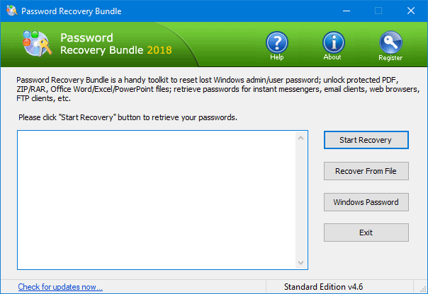Click to view Password Recovery Bundle 2018 screenshot