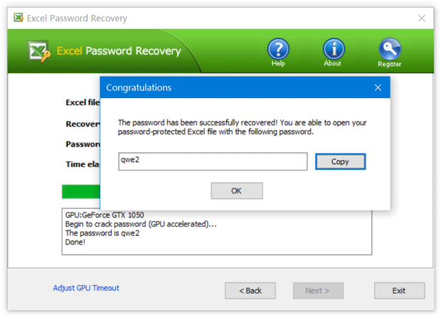 excel password recovery professional registration code