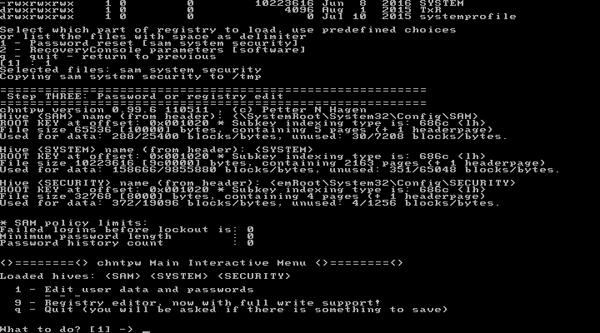 hirens boot cd windows 10 password