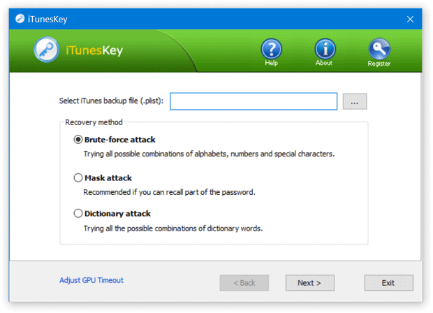 Recover iTunes Backup Password for iPhone/iPad - iTunesKey