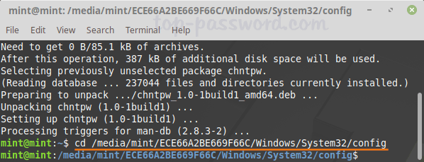 How to Bypass Windows 10 Password with Linux Mint CD