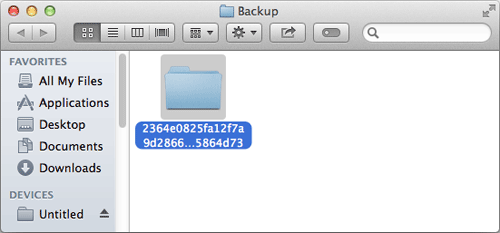 Itunes device backup location mac