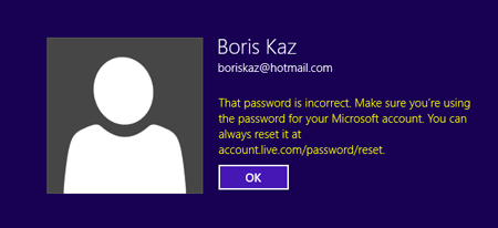 Forgot Windows 8 Microsoft account password