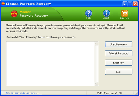 Miranda Password Recovery - Recover Lost Miranda Password