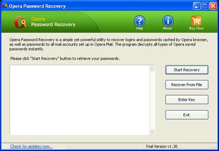 Opera Password Recovery - Reveal Opera saved password