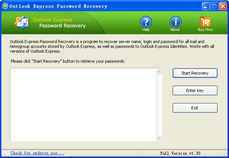 Outlook Express Password Recovery screen shot