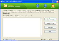 Click to view Outlook Password Recovery 1.3 screenshot