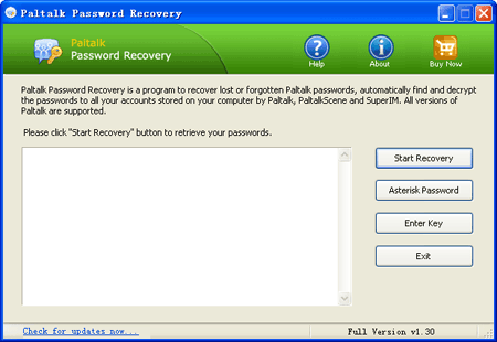 Paltalk Password Recovery