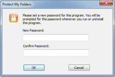 how to create password for folder