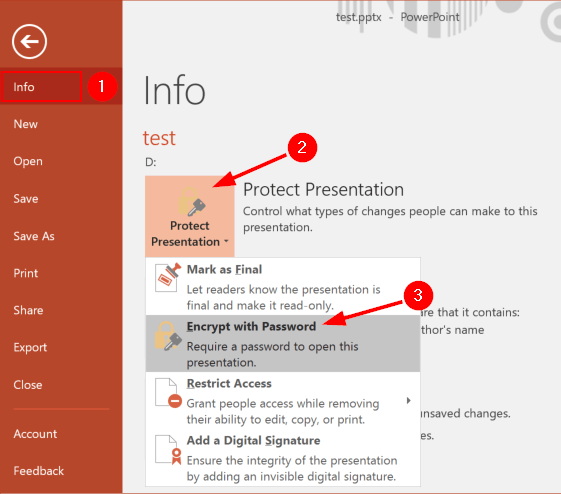 Tutorial: Lock PowerPoint 2016 Presentation from Opening or