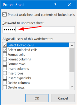 how to protect a column in excel 2016