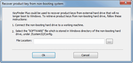 Recover Product Key from Non-booting System