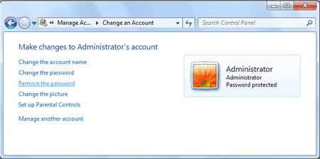 Remove Administrator Password