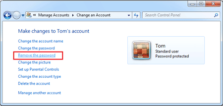 how to change another users password in windows 7
