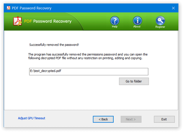 Recover PDF Owner Password
