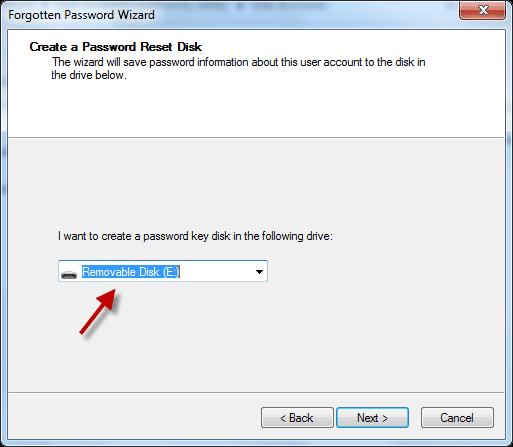 windows 7 password reset key usb