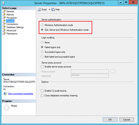 2 Options to Change SQL Server to Mixed Mode Authentication