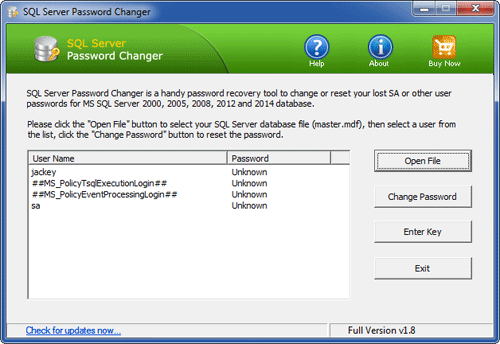 SQL Server Password Changer