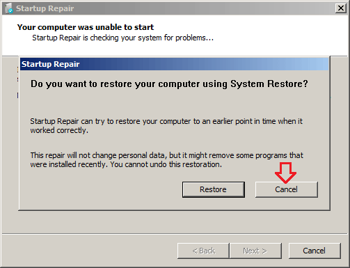 boot windows 7 system repair disc from usb