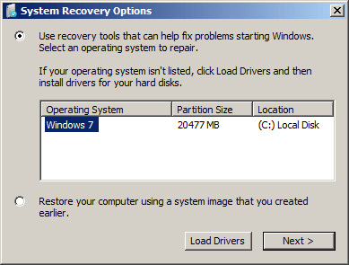 emergency rescue disk windows 7