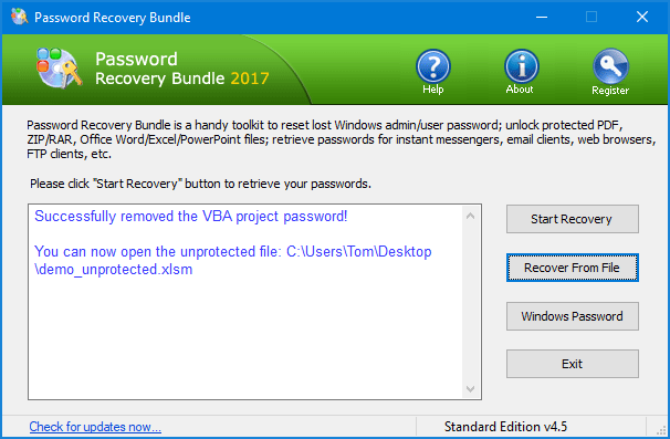 excel remove vba project password xlsm