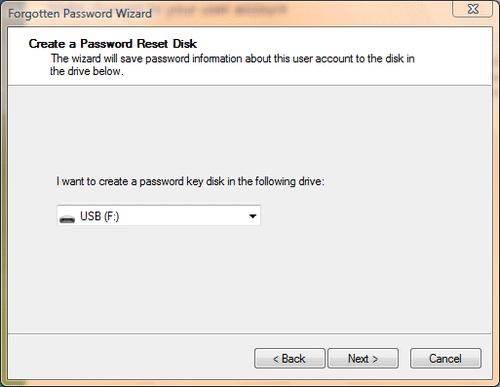 cant remember user password windows vista