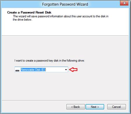 password reset wizard usb