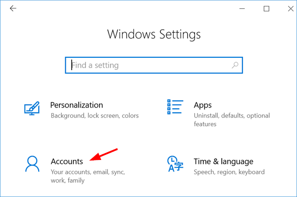 windows 10 how to add a local account