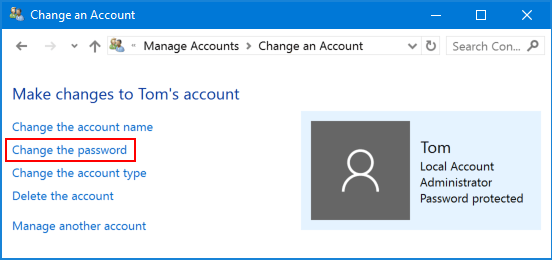 windows 10 how to change to administator