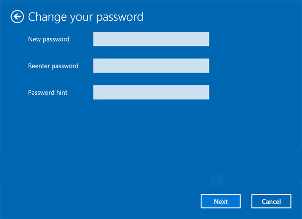 change windows 10 login user
