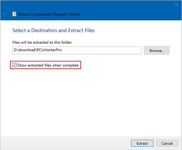 windows 10 zip password