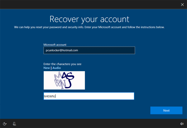 microsoft hotmail account password recovery