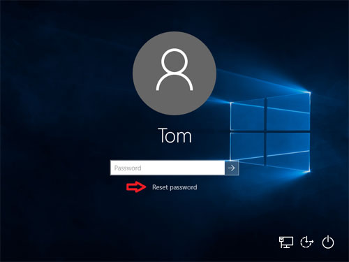 windows 10 cant change account password