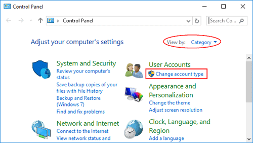 windows 7 account lost admin rights