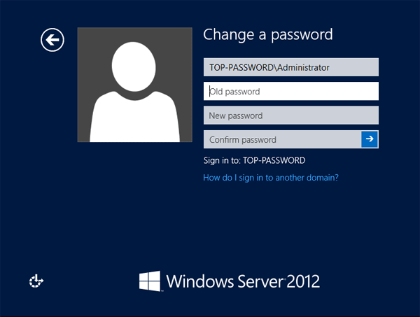 Change domain password from login