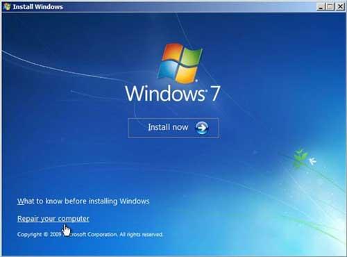 Repair Windows 7