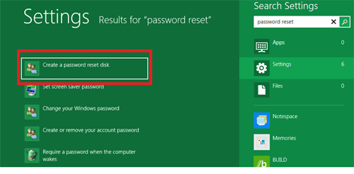 Create Windows 8 Password Reset Disk
