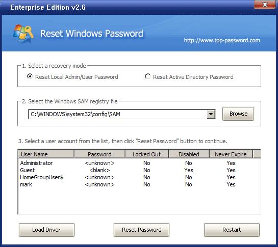 И написано, что когда появится окно программы со всеми пользователями