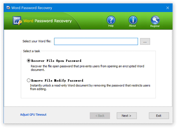 Click to view Word Password Recovery screenshots