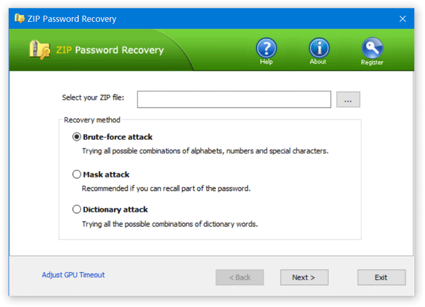 ZIP Password Recovery Tool to Recover Lost WinZip Password
